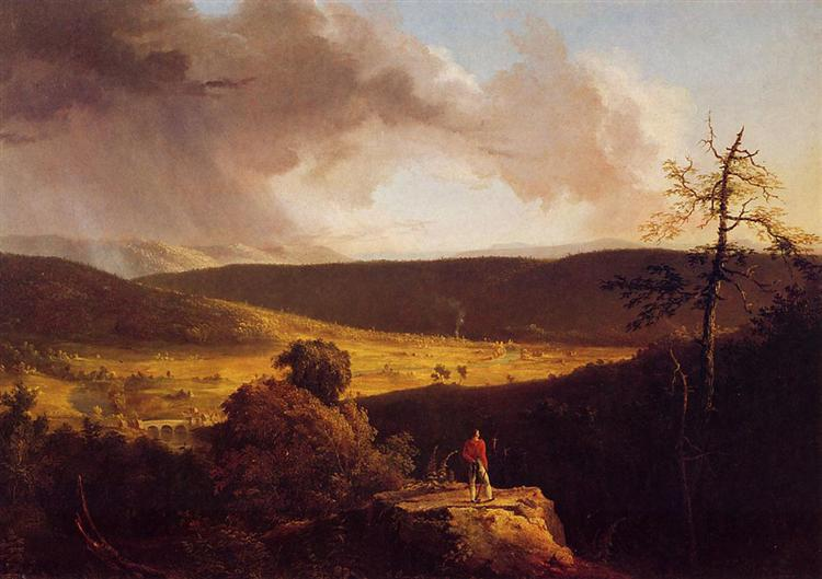 View of L`Esperance on the Schoharie River, 1826 - 1828 - Thomas Cole