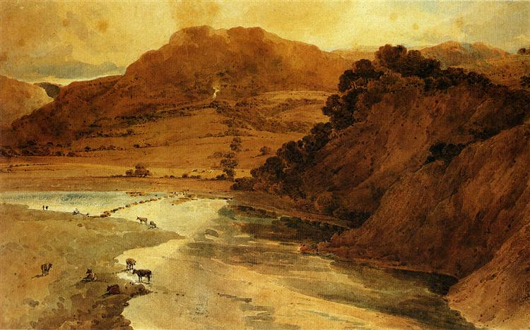 Near Bolton Abbey, Yorkshire - Thomas Girtin