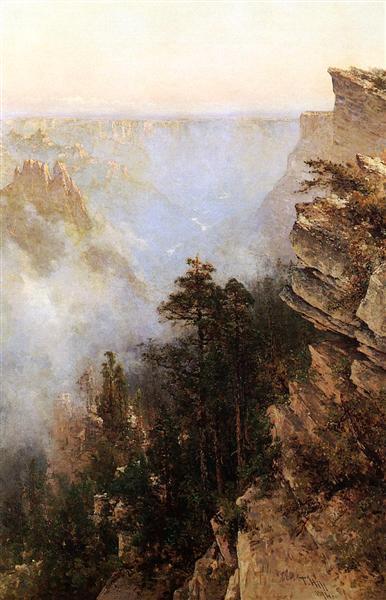 Yosemite Canyon, 1894 - Thomas Hill