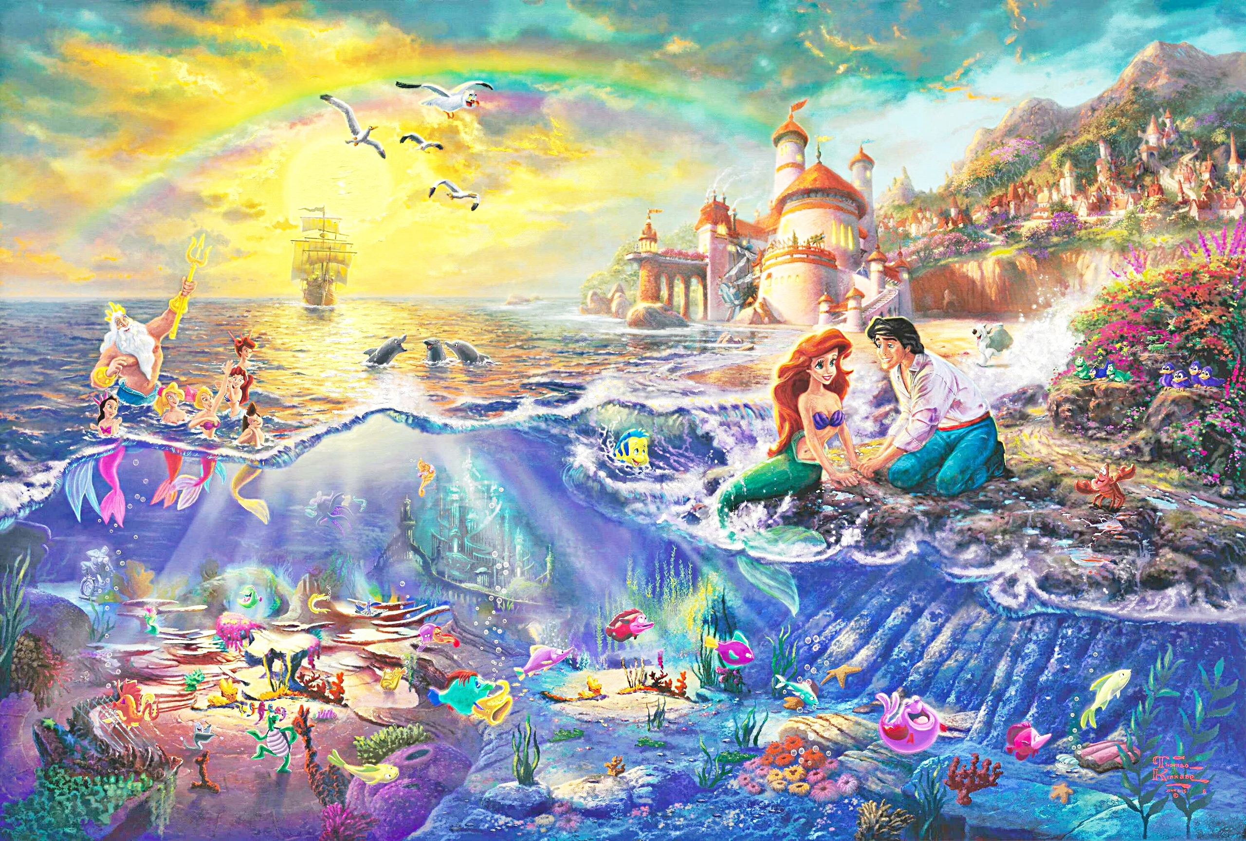 The Little Mermaid Thomas Kinkade WikiArtorg