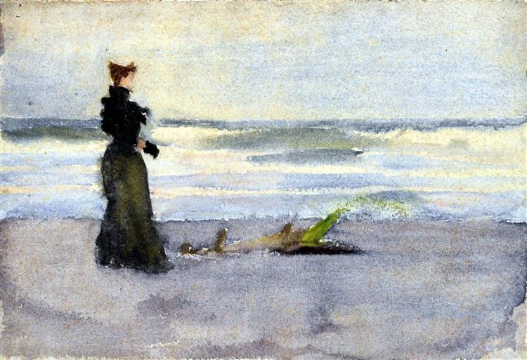 Edwardian woman on the Beach, 1900 - Thomas Pollock Anshutz