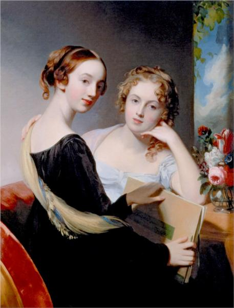 Portrait of the McEuen Sisters (also known as Misses Mary and Emily McEuen) - Thomas Sully