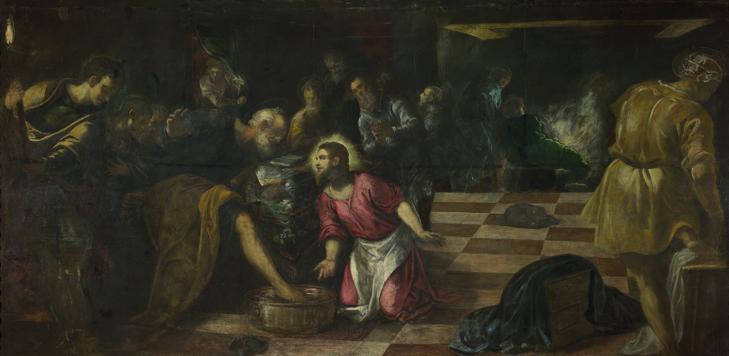 christ washing the feet of the disciples 1575 tintoretto