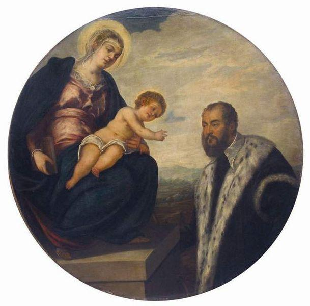 Madonna with Child and Donor Tintoretto, 1524 - 丁托列托