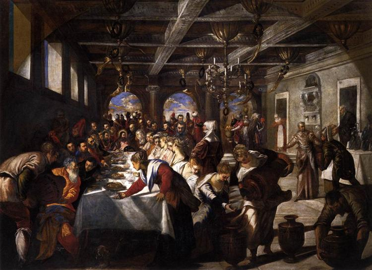 Marriage at Cana, 1561 - Tintoretto