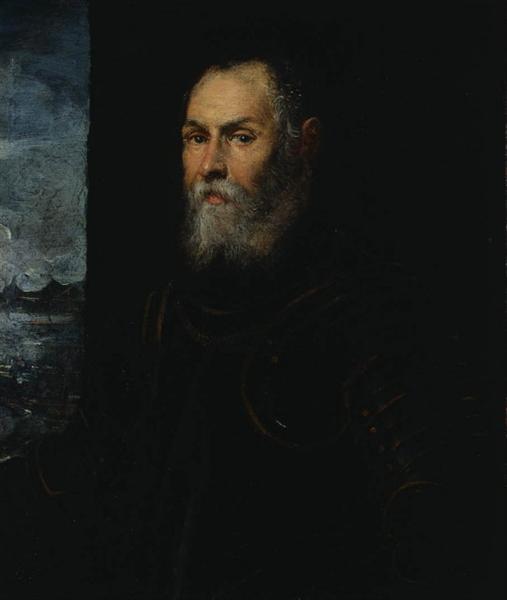 Portrait of a Venetian admiral - Tintoretto