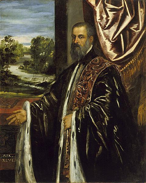 Portrait of a Venetian Senator, c.1560 - Tintoretto