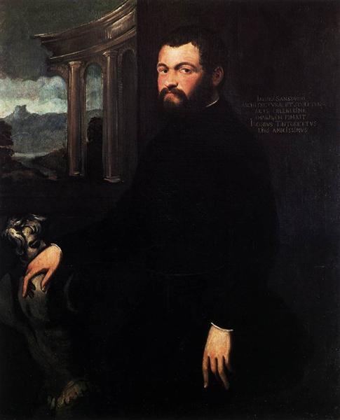 Portrait of Jacopo Sansovino - Tintoretto