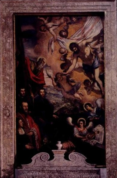 Risen Christ with St.Andrew and members of Morosini family - Tintoretto