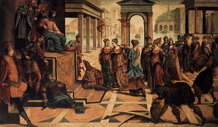 Solomon and the Queen of Sheba, c.1545 - Tintoretto