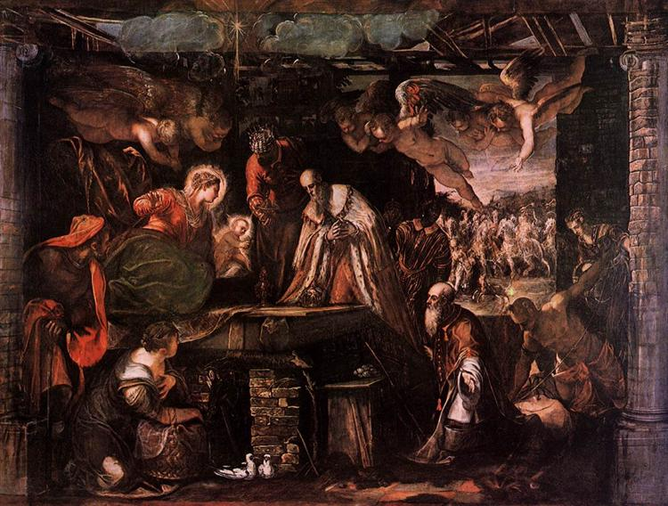 The Adoration of the Magi, 1582 - Тінторетто