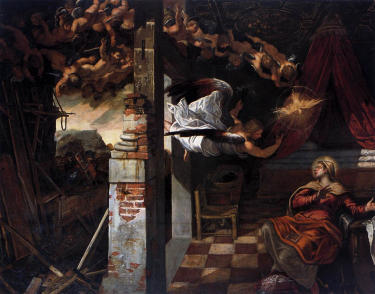 The Annunciation, 1583 - 1587 - Tintoretto