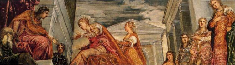 The Queen of Sheba and Solomon, c.1555 - Tintoretto