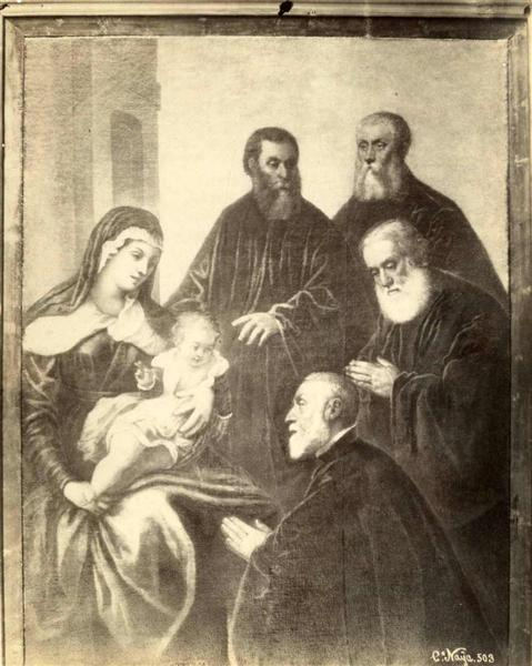 The Virgin and Child with four senators - Тинторетто