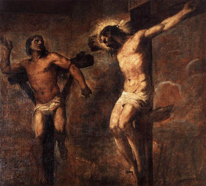 Christ and the Good Thief, c.1566 - Titian