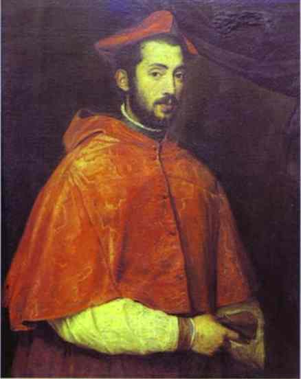 Portrait of Cardinal Alessandro Farnese - Titian