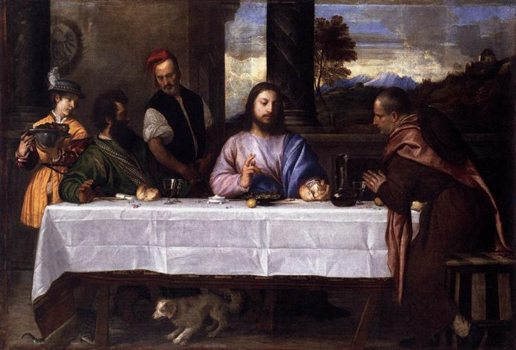 Supper at Emmaus, c.1530 - Ticiano Vecellio