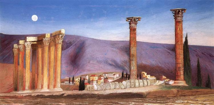 Ruins of the Jupiter Temple in Athens, 1904 - Tivadar Kosztka Csontvary