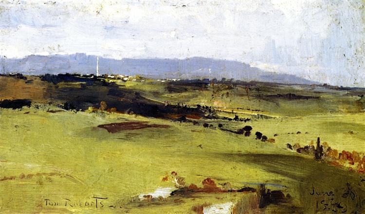 Across to the Dandenongs, 1889 - Tom Roberts