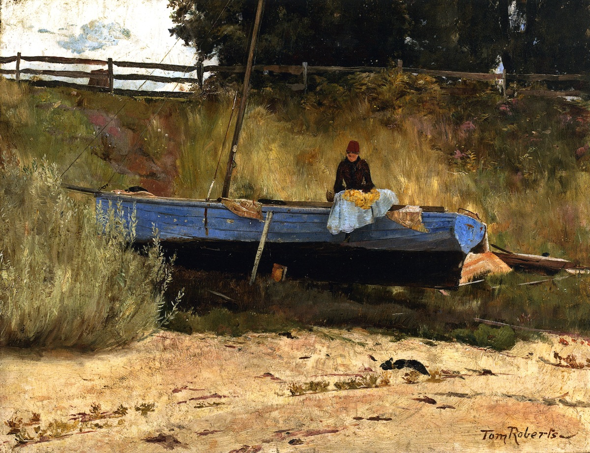 Boat on Beach, Queenscliff, 1886