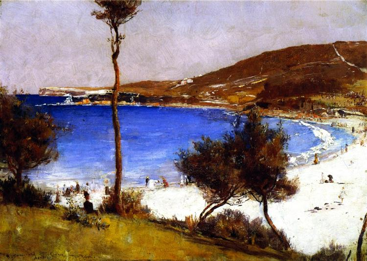 Holiday Sketch at Coogee, 1888 - Tom Roberts