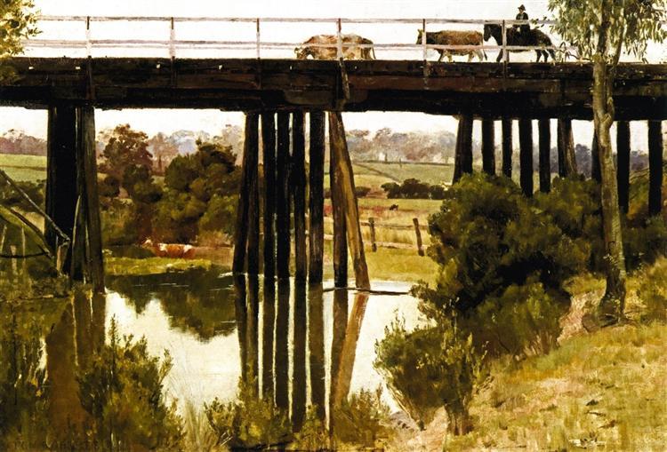Winter Morning after Rain, Gardiner's Creek, 1885 - Tom Roberts