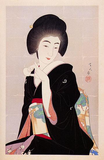 A Tipsy Geisha, 1933 - Torii Kotondo