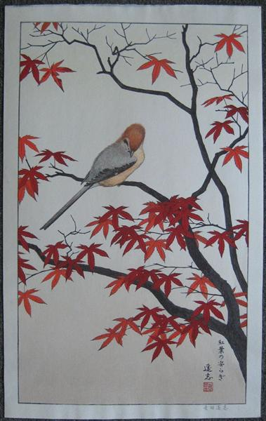 Birds of the Seasons - Autumn, c.1980 - Toshi Yoshida