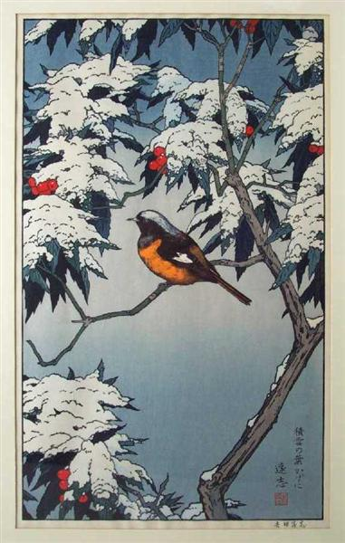 Birds of the Seasons - Winter, c.1982 - Toshi Yoshida