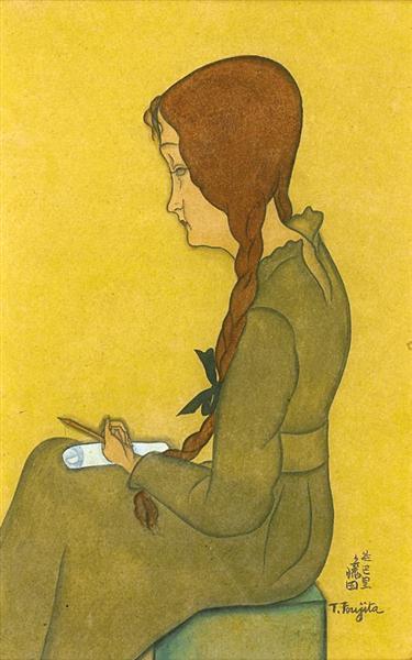 Jeune femme assise, 1917 - Tsuguharu Foujita