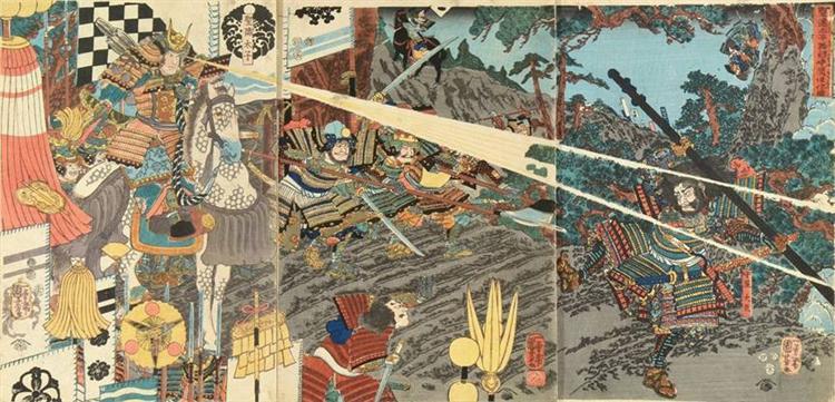 Prince Shôtoku, 1852 - Utagawa Kuniyoshi