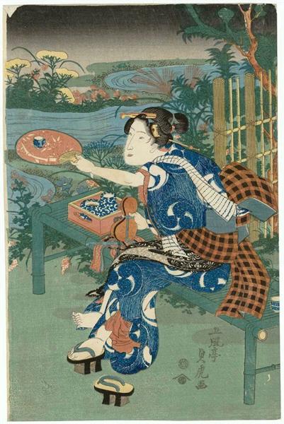 Siete plantas de moda otoño - Utagawa Sadatora