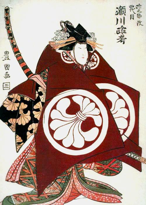 Portrait of Roko Segawa VI as Tomoe Gozen in _Onna Shibaraku_ by Utagawa Toyokuni