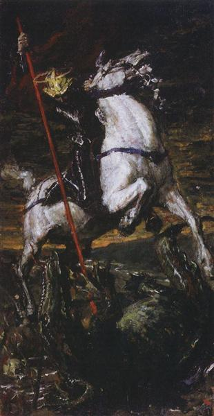 George the Victorious, 1885 - Valentin Serov