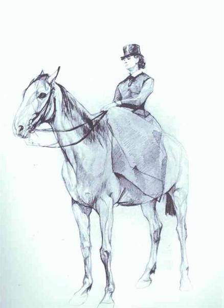 Maria Mamontova Riding a Horse, 1884 - Valentin Serov
