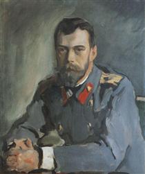 Portrait of Emperor Nicholas II - Valentin Serov