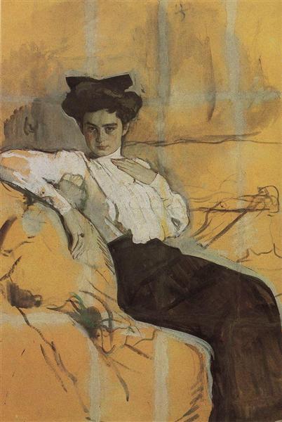 Portrait of Henrietta Girshman, 1906 - Valentin Serov