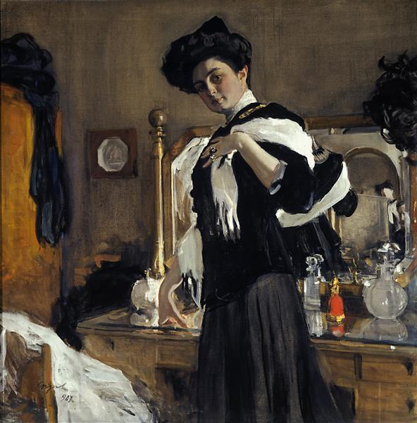 Portrait of Henrietta Girshman, 1907 - Valentin Serov