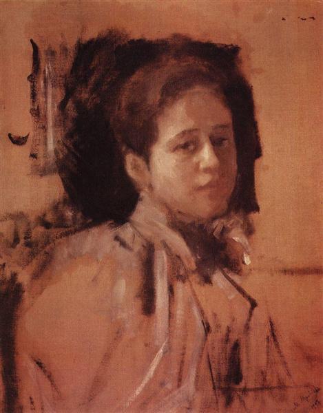 Portrait of Liudmila Mamontova, 1894 - Valentin Serov