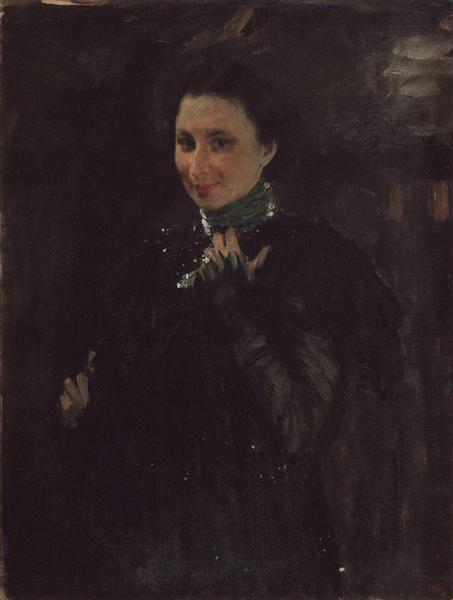 Portrait of Mara Oliv, 1895 - Valentin Serov