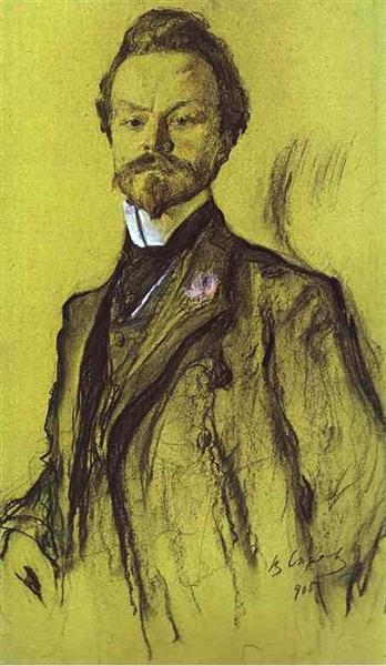 Portrait of the Poet Konstantin Balmont, 1905 - Valentin Serov