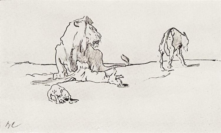 The Lion and the Wolf, 1911 - Valentin Serov