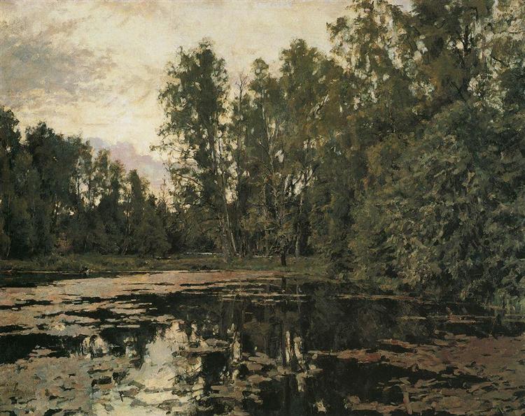 The Overgrown Pond. Domotcanovo, 1888 - Valentin Serov