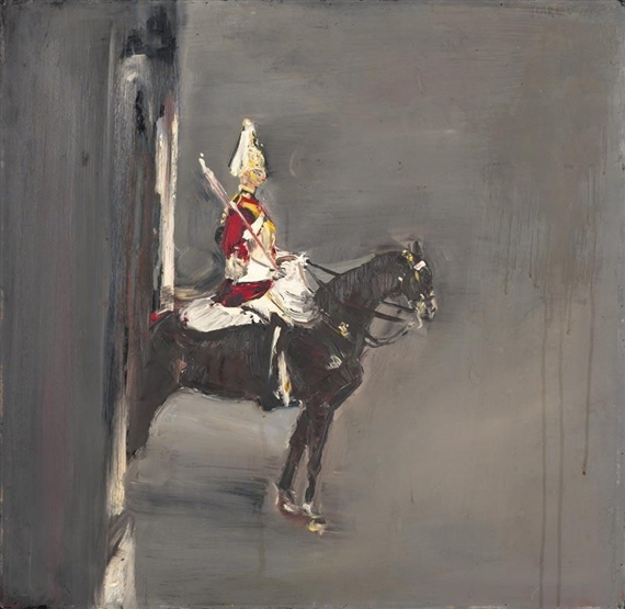 A Guard on Horseback in London, 1955 - Willy Guggenheim