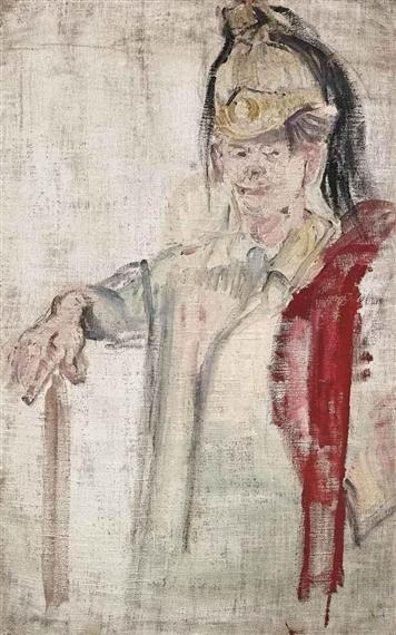 Mann im Kürassierhelm, 1960 - Varlin