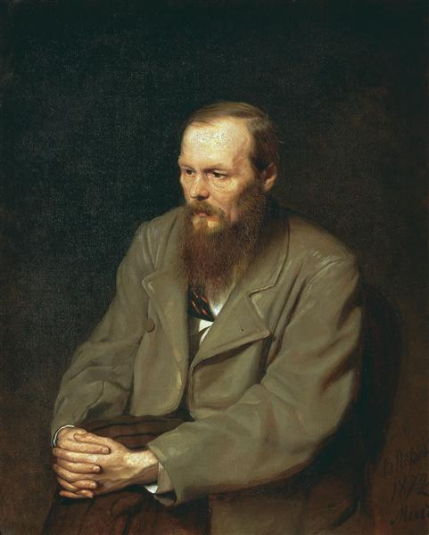 Portrait of the Author Feodor Dostoyevsky, 1872 - Vasily Perov
