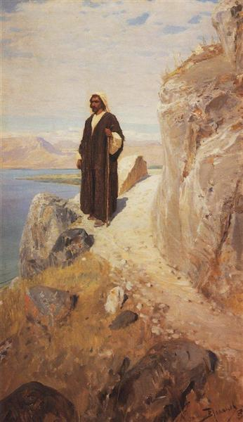 And he returned to Galilee in the power of the Spirit, c.1900 - Vasily Polenov