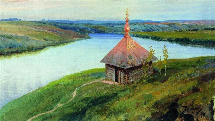 Chapel on the banks of the Oka, 1893 - Wassili Dmitrijewitsch Polenow