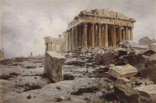 Parthenon. Temple of Athena Parthénos. - Vasily Polenov