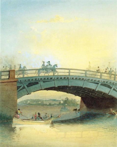 Kamennoostrovsky bridge, c.1830 - Vasily Sadovnikov